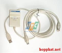 Junction cable between TSXCUSB485 converter and PLC's with Mini-DIN connector such as Twido, TSX Micro and Modicon Premium, 2.5m.