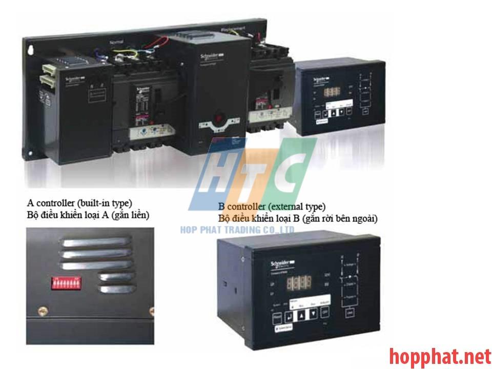 Bộ chuyển nguồn tự động ATS 4P 250A 36kA - LV431640ATNSX12A