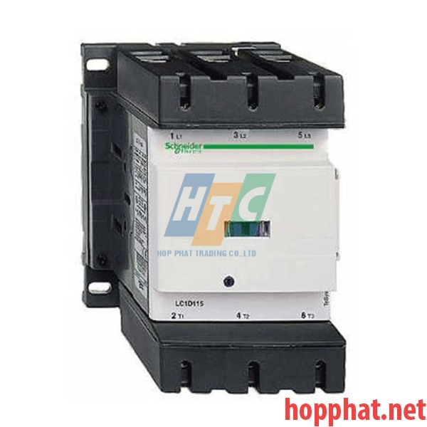 Khởi động từ - 4P(4 NO) - AC-1 - <= 440 V 200 A - 220 V AC coil- LC1D115004M7