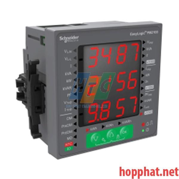 Đồng hồ kỹ thuật số PM2000 VAFPE THD, độ chính xác 1%, đo sóng hài - 15 bậc, modbus - METSEPM2120