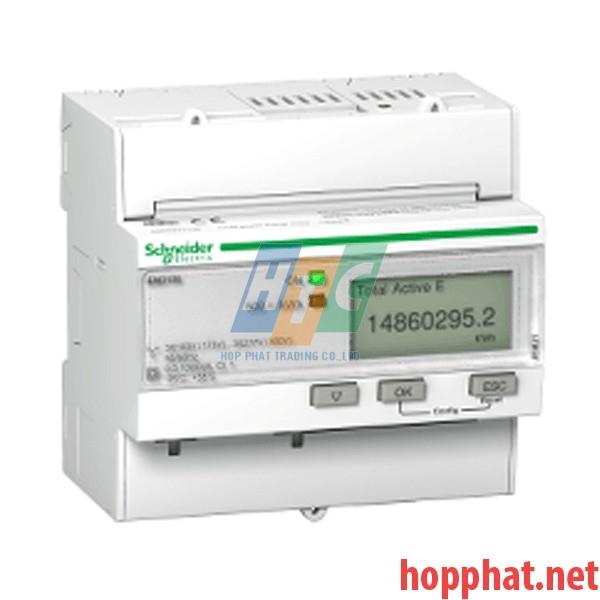Đồng hồ tích hợp biến dòng 63A, thông số đo kWh, kích thước 5x18mm, - A9MEM3100