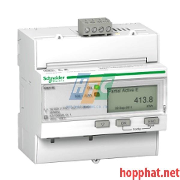 Đồng hồ tích hợp biến dòng 63A, thông số đo: kWh,U,I,P,F, kích thước 5x18mm, Modbus - A9MEM3150