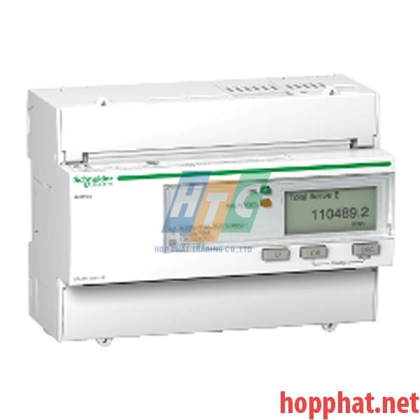 Đồng hồ tích hợp biến dòng 63A, thông số đo kWh, kích thước 5x18mm, - A9MEM3300