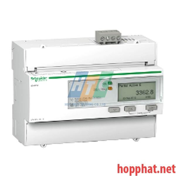 Đồng hồ tích hợp biến dòng 125A, thông số đo: kWh, U,I,P,F, kích thước 5x18mm, Modbus - A9MEM3350