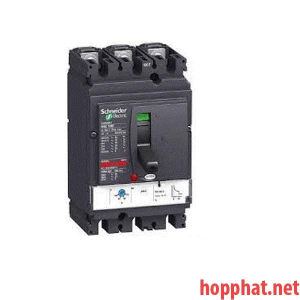 circuit breaker Compact NSX100H - Micrologic 2.2 - 100 A - 3 poles 3d