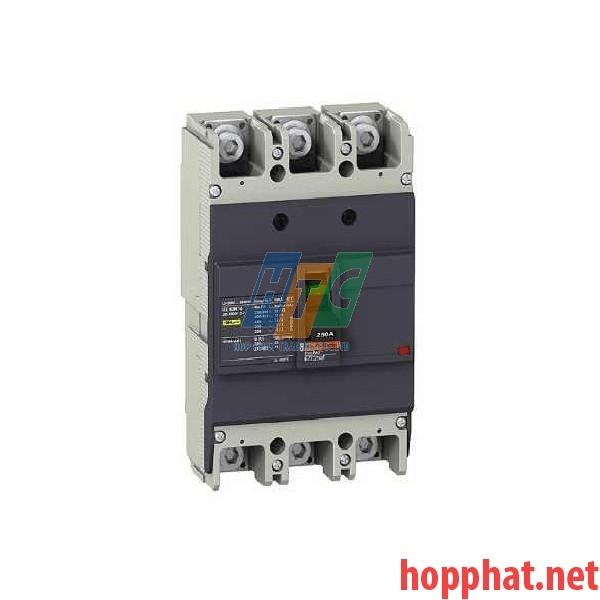Át tô mát MCCB 3P 200A 25kA EZC250N3200