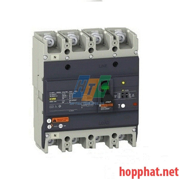 Át tô mát chống dòng dò MCCB 4P 100A 0.1-1A 36kA EZCV250H4100