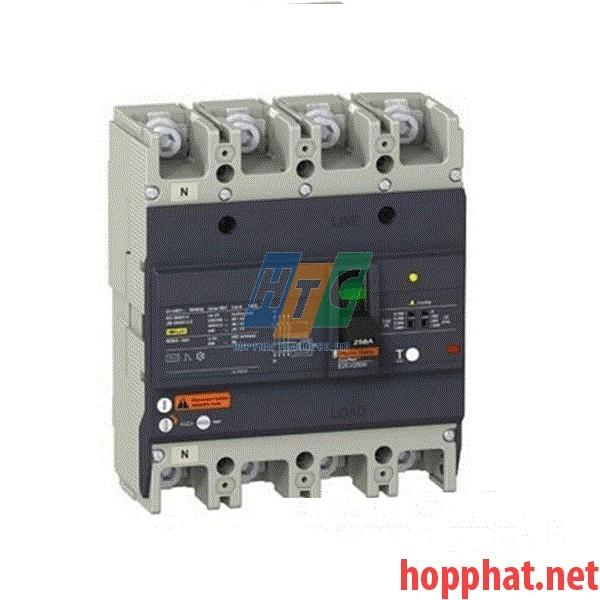 Át tô mát chống dòng dò MCCB 4P 100A 25kA (0.1-1A) EZCV250N4100