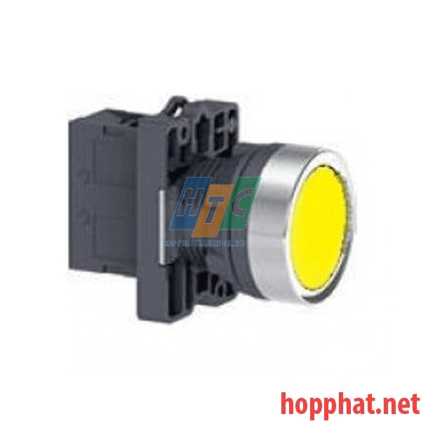 Nút nhấn thả Ø22, N/O, không ký hiệu, màu vàng - XA2EA51