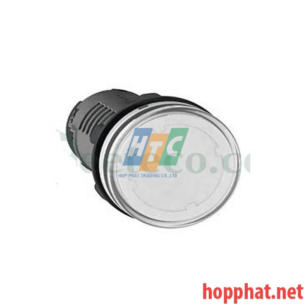 Đèn báo Ø22 điện áp 24V AC/DC màu trắng - XA2EVB1LC