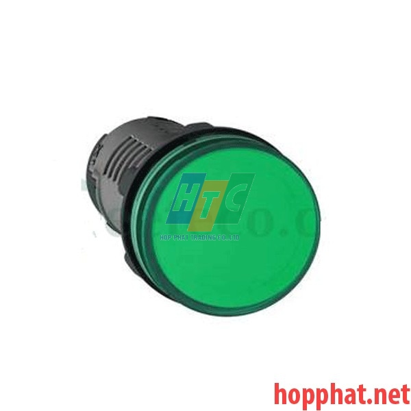 Đèn báo Ø22 điện áp 220V AC màu xanh lá - XA2EVM3LC