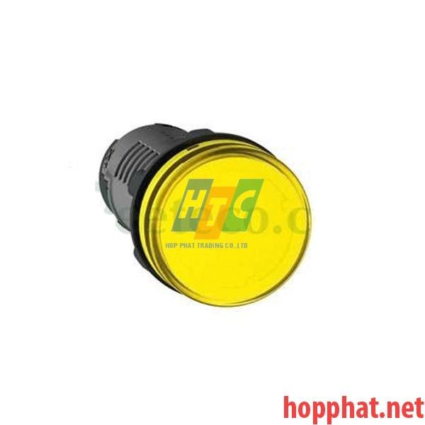 Đèn báo Ø22 điện áp 220V AC màu vàng - XA2EVM5LC
