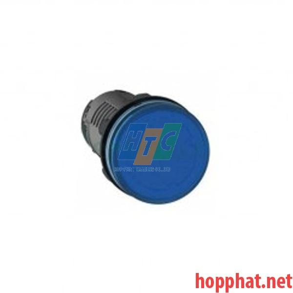Đèn báo Ø22 điện áp 220V DC màu xanh dương - XA2EVMD6LC