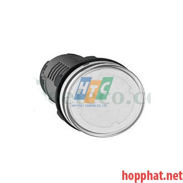 Đèn báo Ø22 điện áp 380-400V AC màu trắng - XA2EVQ1LC