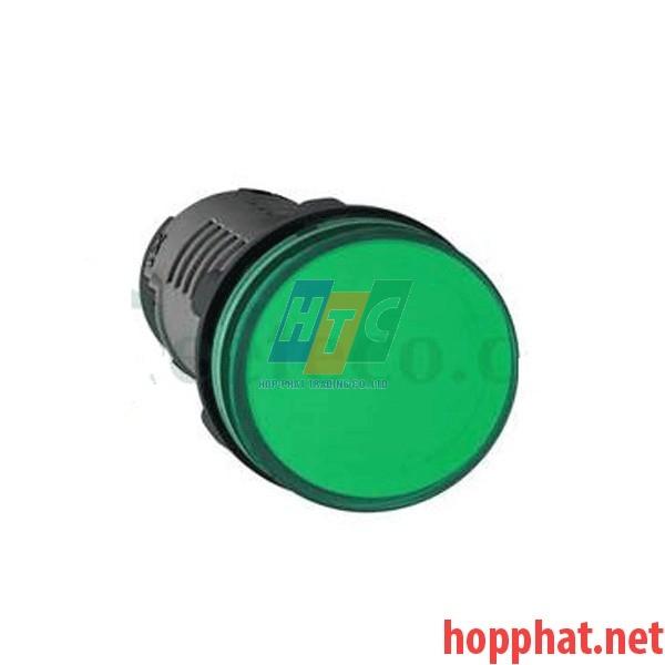 Đèn báo Ø22 điện áp 380-400V AC màu xanh lá - XA2EVQ3LC
