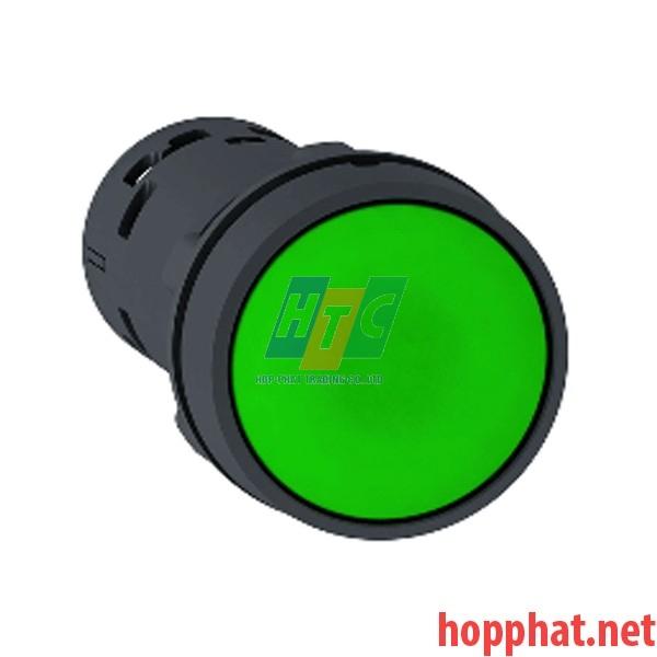 Nút nhấn thả Ø 22mm, N/O+N/C, màu xanh lá - xb7na35