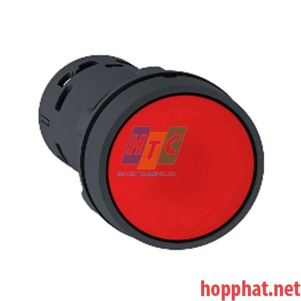Nút nhấn thả Ø 22mm, N/O+N/C, màu đỏ - XB7NA45
