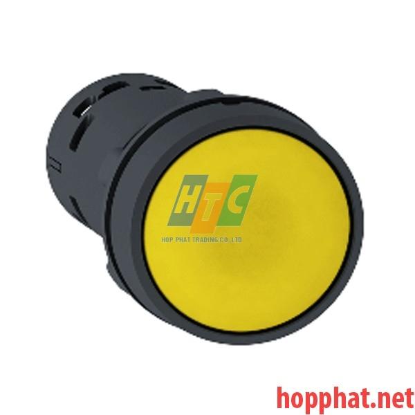 Nút nhấn thả Ø 22mm, 1 N/O, màu vàng - XB7NA81