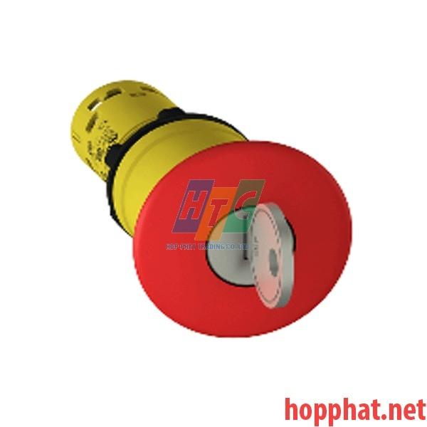 Nút dừng khẩn cấp Ø40 mở bằng chìa khóa N/O+N/C, màu đỏ - XB7NS9445