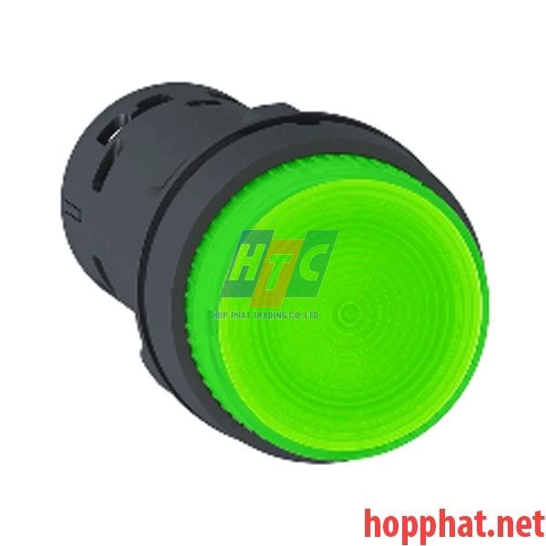 Nút nhấn có đèn LED điện áp 230Vac, N/O, màu xanh lá - XB7NW33M1