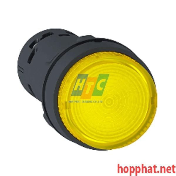 Nút nhấn có đèn LED điện áp 24Vdc, N/O, màu vàng - XB7NW38B1