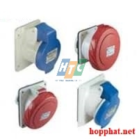 SOCKET PANEL BOX ANGLE 16A 3P 230V IP44 6H