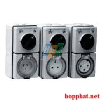 250V 15A 3P ROUND SWITCH SOCKET, IP66