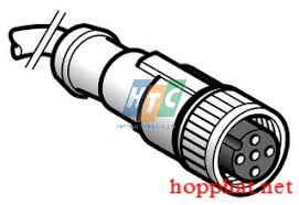 PRE-WIRED CONNECTOR, PVC, FEMALE, M12, 4 - XZCPV1141L10