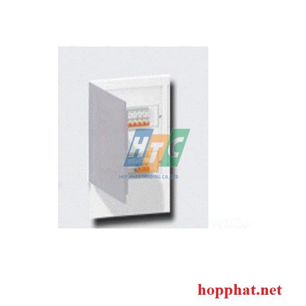 Tủ điện nhựa âm tường 18 modul cửa mờ